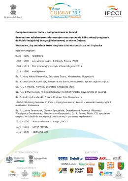 seminarium program Warszawa