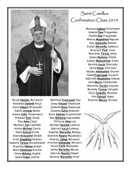 Saint Camillus Confirmation Class 2014