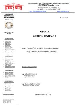 2215-13 Chorzów ul. Cicha 6 Ruch
