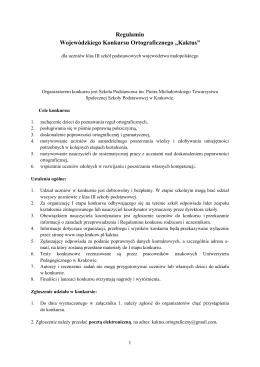 Regulamin konkursu - Towarzystwo Społecznej Szkoły Podstawowej