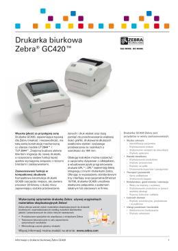 Drukarka biurkowa Zebra® GC420™ - Zebra