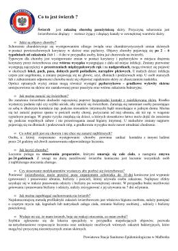 Świerzb - ulotka. - Powiatowa Stacja Sanitarno
