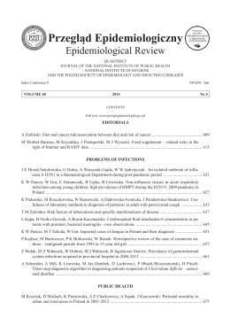 Tom 68 Nr 4 - Przegląd Epidemiologiczny