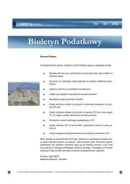 Biuletyn - październik 2014 - SR Polska