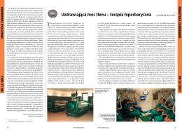 Uzdrawiająca moc tlenu – terapia hiperbaryczna