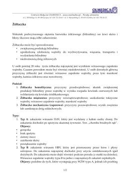 Żółtaczka - Centrum Medyczne OLMEDICA