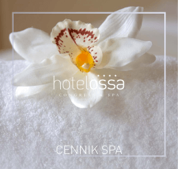 cennik SPA - Hotel Ossa Congress & SPA