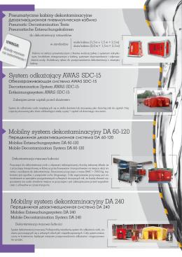 System odka¿aj¹cy AWAS SDC-15 Mobilny