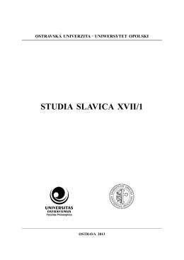 studia slavica xvii/1 - Ostravská univerzita v Ostravě
