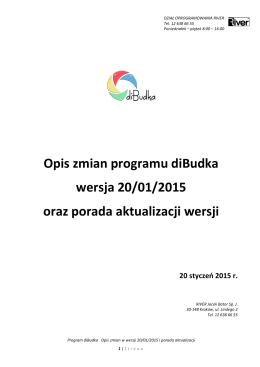 diBudka – opis zmian z 2015-01