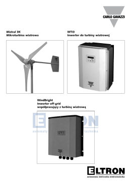 Mistral 3K Mikroturbina wiatrowa WTI3 Inwerter do turbiny