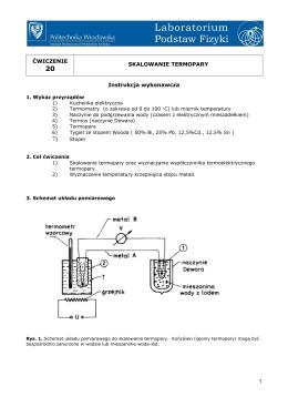 Skalowanie termopary i wyznaczanie temperatury krzepnięcia stopu