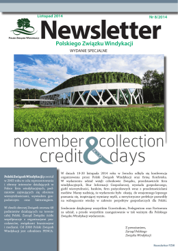 Newsletter PZW - SPECIAL EDITION.indd