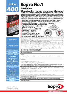 Sopro No.1 - Sopro Bauchemie GmbH