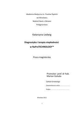 Diagnostyka i terapia nieplodnosci w NaProTECHNOLOGY