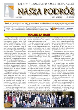 biuletyn 2/2012 - Stowarzyszenie Pomocy Chorym na GIST