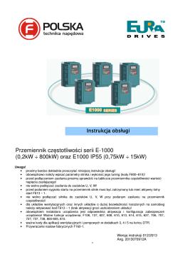 Przemienniki częstotliwości EURA® E-1000 IP55