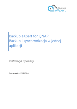 Backup eXpert for QNAP Backup i synchronizacja w jednej aplikacji