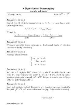pobierz - Śląski Konkurs Matematyczny