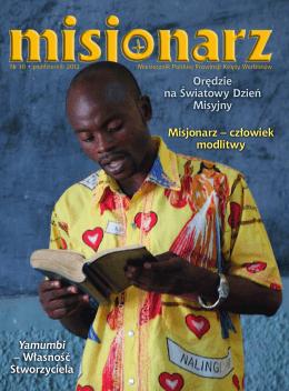 Orędzie na Światowy Dzień Misyjny Misjonarz – człowiek modlitwy