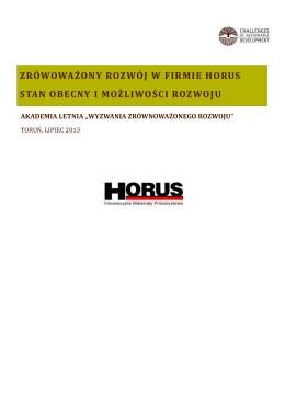 Zrównoważony rozwój w firmie Horus