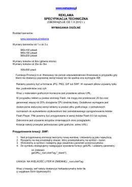 Specyfikacja reklam: plik PDF