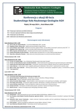 Konferencja z okazji 60-lecia Studenckiego Koła Naukowego