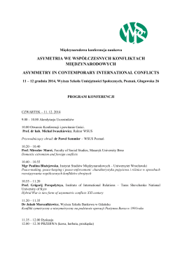 PROGRAM KONFERENCJI.pdf - Wyższa Szkoła Umiejętności