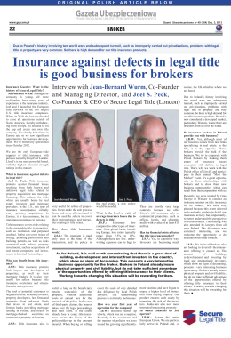 Insurance against defects in legal title is good