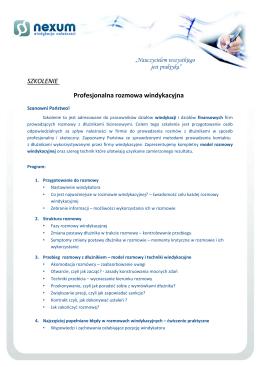 pobierz program szkolenia w PDF - nexum