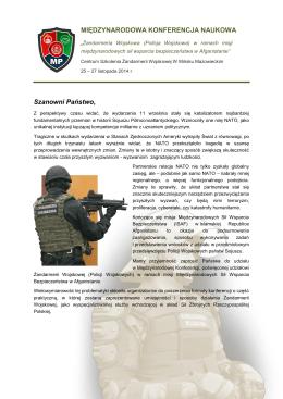 List intencyjny - Żandarmeria Wojskowa