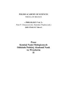 Prace Komisji Nauk Filologicznych Oddziału