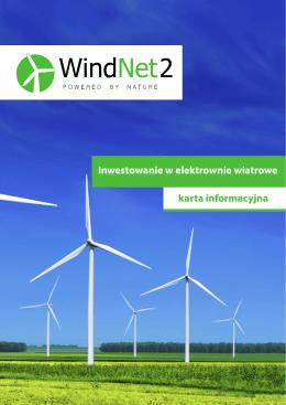 Inwestowanie w elektrownie wiatrowe karta informacyjna