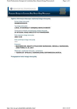 Page 1 of 1 Portal Podsystemu Dostępu do Centralnej Bazy Danych