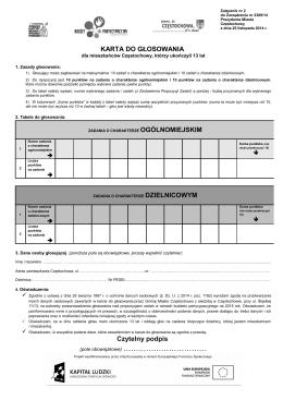 Załącznik nr 2 do Zarządzenia nr 2389/14 – KARTA DO