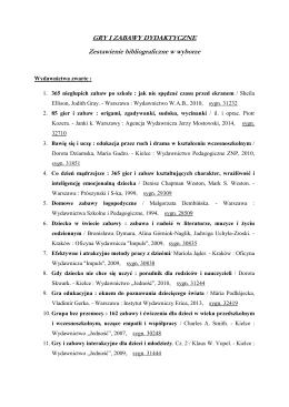 Gry i zabawy dydaktyczne – styczen 2015
