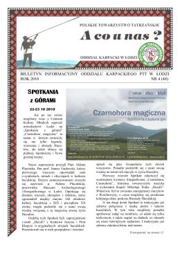 z zapiskw naszych przodkw - Polskie Towarzystwo Tatrzańskie