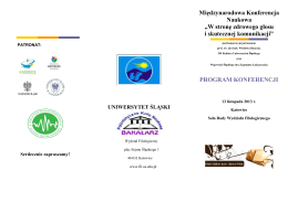 program - Uniwersytet Śląski