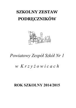 Szkolny zestaw podręczników - Powiatowy Zespół Szkół Nr 1 w