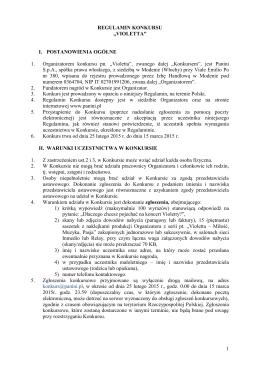 Regulamin konkursu WIELKA WYPRAWA