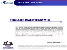 REGULAMIN INWESTYCYJNY WHS
