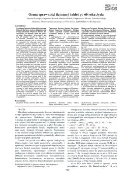 05 Ocena sprawności fizycznej kobiet po 60 roku życia