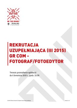 Fotograf/Fotoedytor - Związek Harcerstwa Polskiego