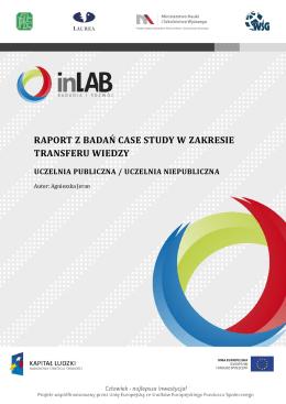 raport z badań case study w zakresie transferu wiedzy