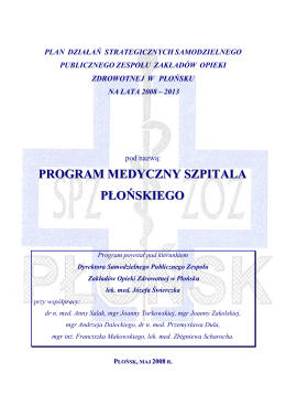 Program Medyczny Szpitala Płońskiego