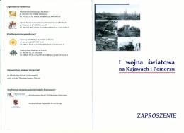 ZAPROSZENIE I wojna światowa - Włocławskie Towarzystwo