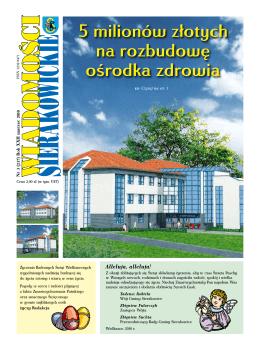 5 milionów złotych na rozbudowę ośrodka zdrowia 5 milionów