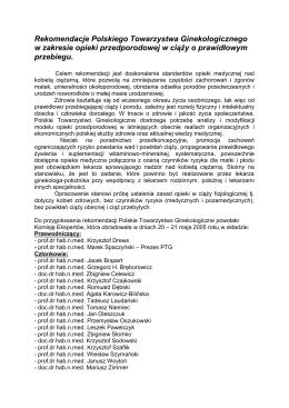 Rekomendacje Polskiego Towarzystwa