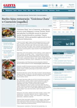 """Bardzo fajna restauracja: """"Gościnna Chata"""" w Czarnowie [zagadka"""