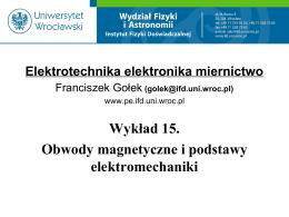 Elektrotechnika elektronika miernictwo